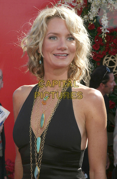 BETH LITTLEFORD.56th Annual Prime Time Emmy Awards held at the Shrine Auditorium. .September 19th, 2004.headshot, portrait, halterncek, turquoise, aqua, gold necklace, jewellery.www.capitalpictures.com.sales@capitalpictures.com.©Don Shaffer/AdMedia/Capital Pictures.