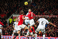 Saturday 11 January 2014 Pictured: <br /> Re: Barclays Premier League Manchester Utd v Swansea City FC  at Old Trafford, Manchester