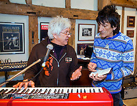 PHOTO By &copy; Stephen Daniels  08/03/2010 <br /> Ronny Woods, Ian McLagan at The Face, rehearsal, Surrey