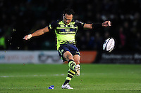 Isa Nacewa of Leinster Rugby kicks for the posts. European Rugby Champions Cup match, between Northampton Saints and Leinster Rugby on December 9, 2016 at Franklin's Gardens in Northampton, England. Photo by: Patrick Khachfe / JMP