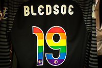 Orlando, FL - Saturday June 24, 2017: Aubrey Bledsoe's Jersey before a regular season National Women's Soccer League (NWSL) match between the Orlando Pride and the Houston Dash at Orlando City Stadium.