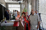 Egyptians visit the grave of former Egyptian President Gamal Abdel Nasser, on the occasion of the 64th anniversary of July 23 revolution, in Cairo, on July 23, 2016. Photo by Amr Sayed