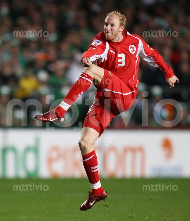 Fussball International WM Qualifikation Gruppe 4 Irland 0-0 Schweiz Ludovic Magnin (SUI)