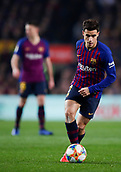 6th February 2019, Camp Nou, Barcelona, Spain; Copa del Rey football semi final, 1st leg, Barcelona versus Real Madrid; Philippe Coutinho of FC Barcelona controls the ball