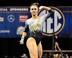 The SEC National Gymnastic Championship was held on Saturday March 24 at Chaifetz Arena on the Saint Louis University campus. Mizzou&rsquo;s Morgan Porter competes in the floor event.<br />
