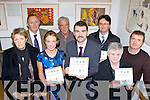 Brendan Griffin TD launched the South Kerry Local Trades and Services Directory in the Killorglin Library on Monday evening l-r: Ann O'Riordan Enterprise Officer SKDP, Michael Keanneally Department of Social protection, Joanne Griffin Enterprise Officer SKDP, Leo O'Shea SKDP, Brendan Griffin TD, Noel Spring SKDP CEO, Joan Collins and Stuart Stephens both SKDP