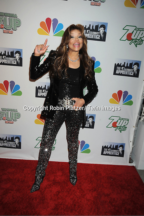 "La Toya Jackson posing for photographers at ""The Celebrity Apprentice""..Season Four Finale Party on May 22, 2011 at The Trump Soho Hotel in New York City."