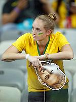 Dejected Brazil fan with Neymar mask