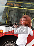 Zombie Antoinette O'Hagan gets the bus at the launch of the Zombie Walk on West Street. Photo:Colin Bell/pressphotos.ie