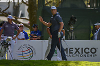 Jon Rahm (ESP) acknowledges the gallery after his tee shot on 7 during round 1 of the World Golf Championships, Mexico, Club De Golf Chapultepec, Mexico City, Mexico. 2/21/2019.<br /> Picture: Golffile | Ken Murray<br /> <br /> <br /> All photo usage must carry mandatory copyright credit (© Golffile | Ken Murray)
