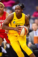 Washington, DC - June 15, 2018: Los Angeles Sparks guard Chelsea Gray (12) in action during game between the Washington Mystics and Los Angeles Sparks at the Capital One Arena in Washington, DC. (Photo by Phil Peters/Media Images International)