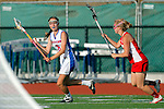 Placentia, CA 05/14/10 - Michelle Woyshner (Los Alamitos # 6) and unknown Redondo Union playerin action during the 2010 CIF Girls Lacrosse Championship game between Redondo Union and Los Alamitos, Los Alamitos defeated Redondo 24-7.