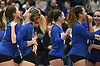 Mattituck teammates celebrate after their 3-0 win over East Rockaway in the girls volleyball Class C Long Island Championship at Farmingdale State College on Sunday, Nov. 11, 2018.