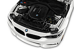 Car Stock 2020 BMW 4-Series 440i-M-Sport Door Coupe Engine  high angle detail view