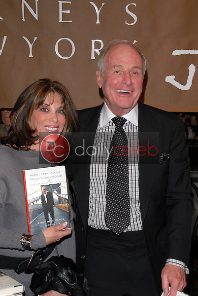 """Kate Linder and Jerry Weintraub<br /> at a celebration of Jerry Weintraub's New Book """"When I Stop Talking You'll Know I'm Dead,"""" Barney's New  York, Beverly Hills, CA. 05-18-10<br /> David Edwards/Dailyceleb.com 818-249-4998"""