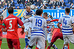 03.11.2018, Schauinsland-Reisen-Arena, Duisburg, GER, 2. FBL, MSV Duisburg vs. SC Paderborn 07, DFL regulations prohibit any use of photographs as image sequences and/or quasi-video<br /> <br /> im Bild Gerrit Nauber (#6, MSV Duisburg) klaert den Ball im Strafraum<br /> <br /> Foto © nordphoto/Mauelshagen