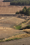 Israel, Coastal Plain, a view of the Turkish railroad bridge and Nahal Shikma from Tel Nagila