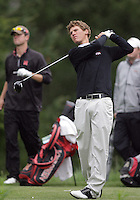 21 May, 2010:   Fresno State's Bryan Hogan watches his drive on hole 11 during day two of the NCAA West Regional First Round at Gold Mountain Golf Course in Bremerton, Washington.