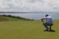 Robert Brazill (Naas) on the 6th green during the Final of the AIG Irish Amateur Close Championship 2019 in Ballybunion Golf Club, Ballybunion, Co. Kerry on Wednesday 7th August 2019.<br /> <br /> Picture:  Thos Caffrey / www.golffile.ie<br /> <br /> All photos usage must carry mandatory copyright credit (© Golffile | Thos Caffrey)