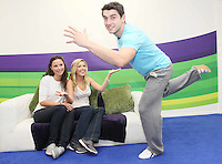 "NO REPRO FEE. Bernard Brogan, GAA All Star and 2010 Footballer of the Year with Linda O Neill and Aishling O Reilly , popped into the Kinect  Experiential Centre on Grafton Street to get a sneak preview of Kinect ahead of launch on November 10thand take on the public in a series of sprints as part of a ""Kinect Sports"" challenge.Kinect for Xbox 360 makes it possible to play in a whole new way by identifying your movement and body position to create a truly immersive entertainment experience. See a ball? Just kick it. Browse through a menu with the wave of a hand Picture James Horan/Collins Photos"