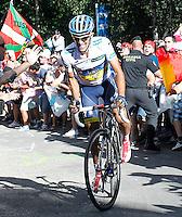 Alberto Contador during the stage of La Vuelta 2012 between Palas de Rei and Puerto de Ancares.September 1,2012. (ALTERPHOTOS/Paola Otero) NortePhoto.com<br /> <br /> **CREDITO*OBLIGATORIO** <br /> *No*Venta*A*Terceros*<br /> *No*Sale*So*third*<br /> *** No*Se*Permite*Hacer*Archivo**<br /> *No*Sale*So*third*