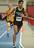Juan Lasso of Westhampton legs out a win in the 1,000 meter run during the Suffolk County varsity boys track and field small schools championship at Suffolk Community College Grant Campus in Brentwood on Friday, Feb. 2, 2018. He recorded a time of 2:34.41.