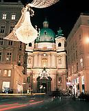 AUSTRIA, Vienna, St. Peter's Church on Graben street during Christmas