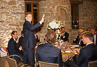 Switserland, Genève, September 16, 2015, Tennis,   Davis Cup, Switserland-Netherlands, location of the official diner, Domaine du Clos Du Chateau, Tallon Griekspoor  is being presented<br /> Photo: Tennisimages/Henk Koster