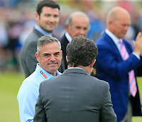 Host Paul McGinley (IRL) at the prize giving ceremony at the end of Sunday's Final Round of the Dubai Duty Free Irish Open 2019, held at Lahinch Golf Club, Lahinch, Ireland. 7th July 2019.<br /> Picture: Eoin Clarke | Golffile<br /> <br /> <br /> All photos usage must carry mandatory copyright credit (© Golffile | Eoin Clarke)