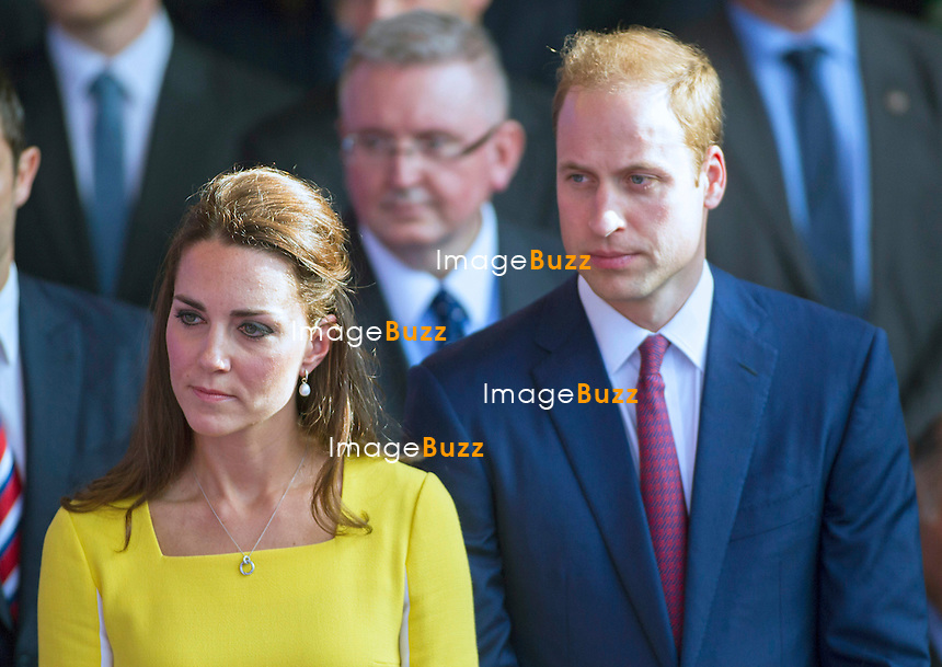 KATE, DUCHESS OF CAMBRIDGE AND PRINCE WILLIAM<br /> attend a civic reception at the Sydney Opera House. <br /> On arrival the royal couple stopped in front of the Sydney Harbour Bridge, attended the reception and met locals on a walkabout outside.<br /> Sidney, Australia, 16.04.14