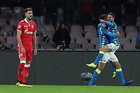 Esultanza dopo il gol di Dries Mertens Napoli goal celebration <br /> Napoli 28-11-2018 Stadio San Paolo<br /> Football Calcio UEFA Champions League 2018/2019 Group C <br /> Napoli - Crvena Zvezda<br /> Foto Cesare Purini / Insidefoto