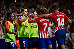Atletico de Madrid's players celebrate goal during La Liga match. August 25, 2018. (ALTERPHOTOS/A. Perez Meca)