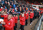 New scholars on a walk around the ground during the championship match at the Bramall Lane Stadium, Sheffield. Picture date 28th April 2018. Picture credit should read: Simon Bellis/Sportimage