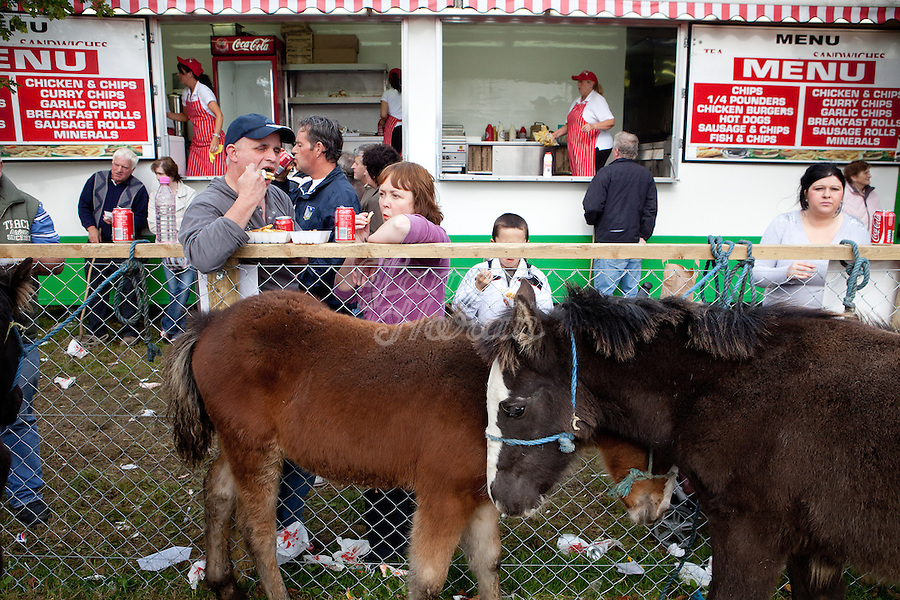 9/10/2010. Chip van at the Ballinasloe Horse Fair, Ballinasloe, County Galway, Ireland. Picture James Horan