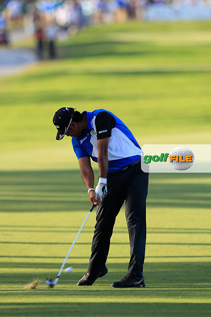 Hideki Matsuyama (JAP) during the 2nd round at the WGC Cadillac Championship, Blue Monster, Trump National Doral, Doral, Florida, USA<br /> Picture: Fran Caffrey / Golffile