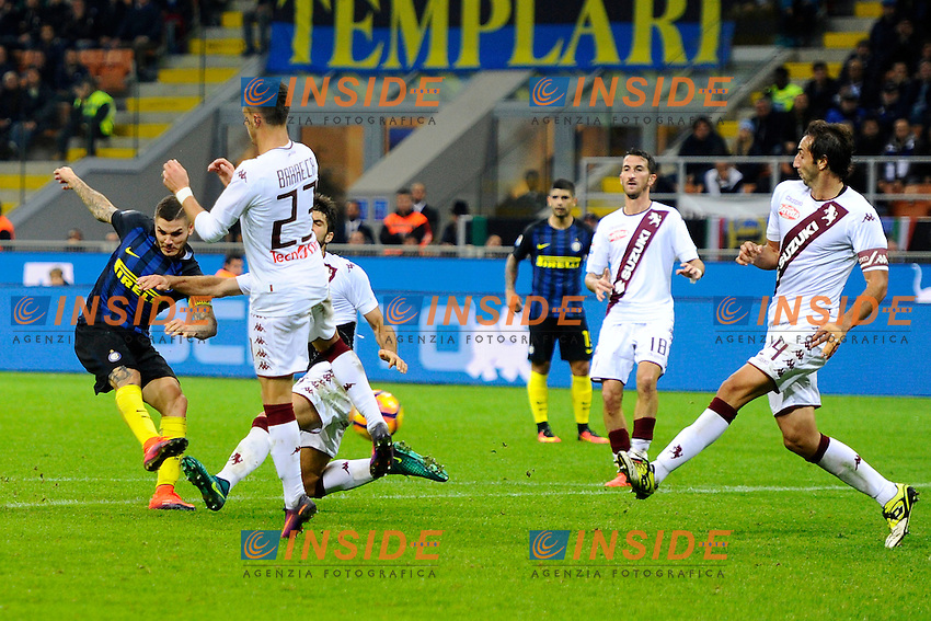 Gol di Mauro Icardi Inter 2-1. Celebration goal<br /> Milano 26-10-2016 Stadio Giuseppe Meazza - Football Calcio Serie A Inter - Torino. Foto Giuseppe Celeste / Insidefoto
