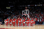 MADISON, WI - NOVEMBER 3: The Wisconsin Badgers cheerleaders during the game against the University of Wisconsin-Stout Blue Devils at the Kohl Center on September 3, 2006 in Madison, Wisconsin. The Badgers beat the Blue Devils 82-33. Photo by David Stluka