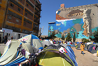 Pireus / Athens 30/3/2016<br /> General view of refugee camp in Pireus Port. Most of them are women with children coming from Syria.<br /> Photo Livio Senigalliesi