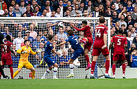 Roberto Firmino of Liverpool scores during the Premier League match between Chelsea and Liverpool at Stamford Bridge, London, England on 22 September 2019. Photo by Liam McAvoy / PRiME Media Images.