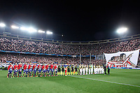 Atletico de Madrid´s team players and Milan´s team players during 16th Champions League soccer match at Vicente Calderon stadium in Madrid, Spain. January 06, 2014. (ALTERPHOTOS/Victor Blanco)