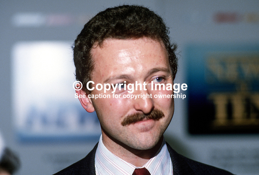 Andrew Hargreaves, MP, Conservative Party, UK, 19871009AH.<br />