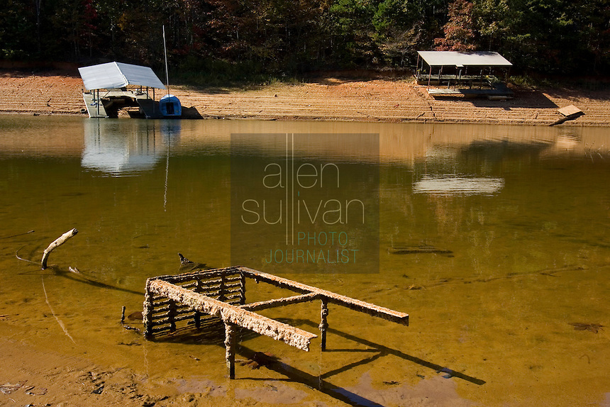 Grounded docks on Lake Lanier. The lake provides water for parts of Georgia, Alabama and Florida.