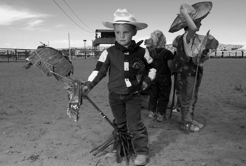 The Kids Rodeo started off a weekend of rodeo fun in Magdalena, N.M., where venerable cowboys will compete through Sunday in the 30th annual Old Timers' Reunion Rodeo.