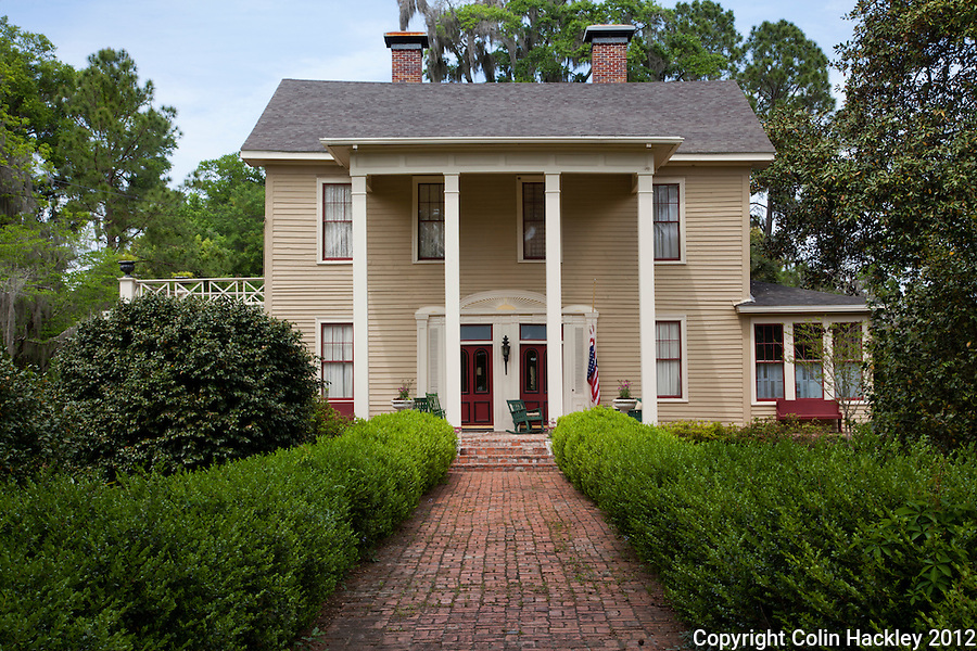 WORK AT HOME: The two front doors of the home built by Madison Livingston circa 1836 were designed to separate entrances to the home and business. The home is thought to be one of the oldest in the town..SOURCE: Walking/Driving Tour of Historic Madison, Fla..COLIN HACKLEY PHOTO