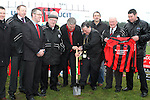 Turning of the First Sod for the New Clubhouse for Drogheda Town Football Club at Marion Park...(Photo credit should read Jenny Matthews/NEWSFILE)...