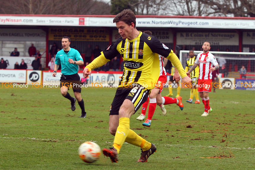 Billy Bingham of Dagenham and Redbridge - Stevenage vs Dagenham and Redbridge - Sky Bet League Two football at he Lamex Stadium on 21/03/15 - MANDATORY CREDIT: Dave Simpson/TGSPHOTO - Self billing applies where appropriate - 0845 094 6026 - contact@tgsphoto.co.uk - NO UNPAID USE