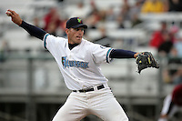 July 7 2009: Luke Burnett of the Everett AquaSox pitches against the Yakima Bears at Everett Memorial Stadium in Everett,WA.  Photo by Larry Goren/Four Seam Images