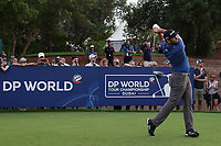 Jon Rahm (ESP) during the first round of the DP World Championship, Earth Course, Jumeirah Golf Estates, Dubai, UAE. 21/11/2019<br /> Picture: Golffile | Phil INGLIS<br /> <br /> <br /> All photo usage must carry mandatory copyright credit (© Golffile | Phil INGLIS)