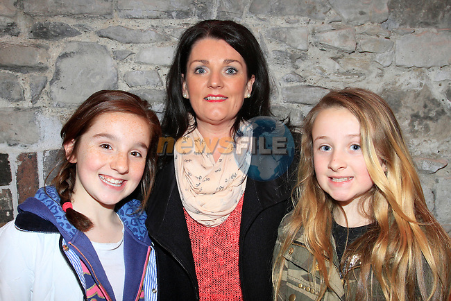 """Kirsty Maxim and mum Alison and Cathy Mulready watching Katy Anna Mohan from RTE's  """"The Voice"""" in Scotch Hall Drogheda on the 11th April 2013.Copyright: Thos Caffrey www.newsfile.ie"""