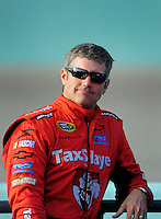 Nov. 20, 2009; Homestead, FL, USA; NASCAR Sprint Cup Series driver Bobby Labonte during qualifying for the Ford 400 at Homestead Miami Speedway. Mandatory Credit: Mark J. Rebilas-